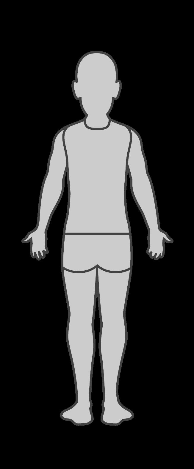 Niño, vista posterior