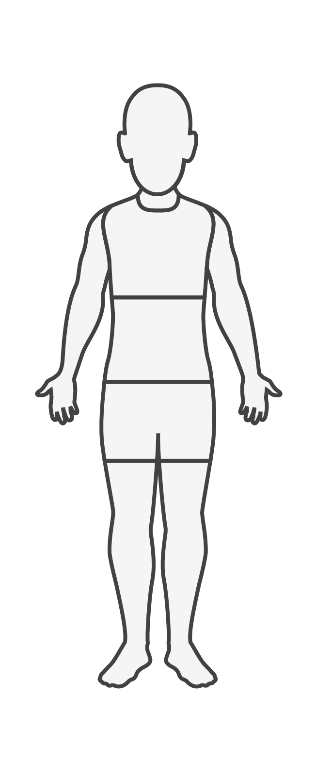 Niño, vista anterior