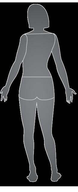 Mujer, vista posterior