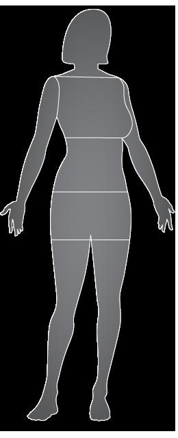 Mujer, vista anterior
